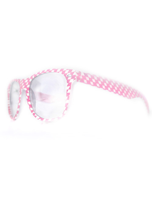 Glasses pink-white